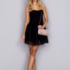 Szara sukienka z obniżonym stanem - zdjęcie 1