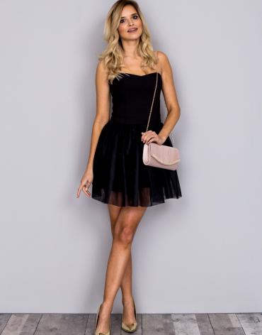 sukienka czarna z obniżonym stanem