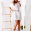 SCANDEZZA Biała sukienka hiszpanka z haftem angielskim - zdjęcie 4