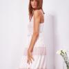 SCANDEZZA Różowa sukienka na ramiączkach z koronką - zdjęcie 3