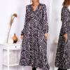 Sukienka maxi czarno-beżowa - zdjęcie 3