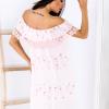 SCANDEZZA Różowa sukienka w flamingi - zdjęcie 1
