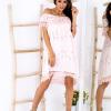 SCANDEZZA Różowa sukienka w flamingi - zdjęcie 2