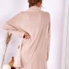 SCANDEZZA Pudroworóżowa luźna sukienka z jedwabiem - zdjęcie 3