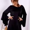 SCANDEZZA Czarna sukienka z hiszpańskimi rękawami - zdjęcie 1