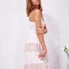 SCANDEZZA Różowa sukienka na ramiączkach z koronką - zdjęcie 6