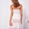 SCANDEZZA Różowa sukienka na ramiączkach z koronką - zdjęcie 2