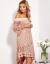 CANDEZZA Pudroworóżowa koronkowa sukienka hiszpanka