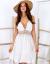 SCANDEZZA Beżowa sukienka damska na cienkich ramiączkach