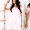 SCANDEZZA Różowa sukienka w flamingi - zdjęcie 3