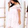 SCANDEZZA Różowa sukienka w flamingi - zdjęcie 4
