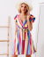 SCANDEZZA Sukienka w kolorowe paski