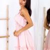 SCANDEZZA Różowa sukienka wiązana na szyi - zdjęcie 2