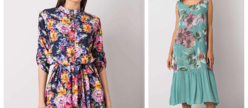 modne sukienki w kwiaty na lato